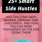 25+ Real Side Hustles You Can Start With Minimal Upfront Time Investment, and How You Can Make Thousands on the Side Doing Them!