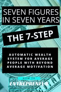 Seven Figures in Seven Years: The 7-Step 7 Figure Success Formula for Side Hustlers and Entrepreneurs with Above Average Motivation
