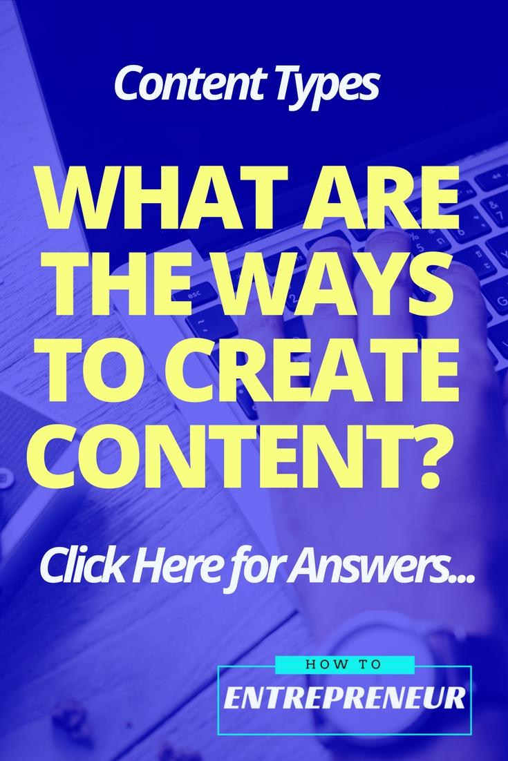 types content marketing