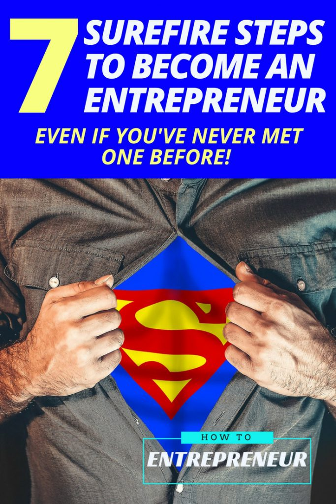 steps to become an entrepreneur