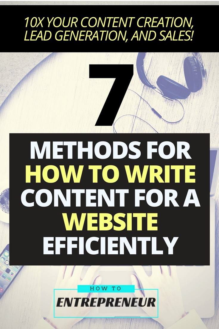 how to create content for a website