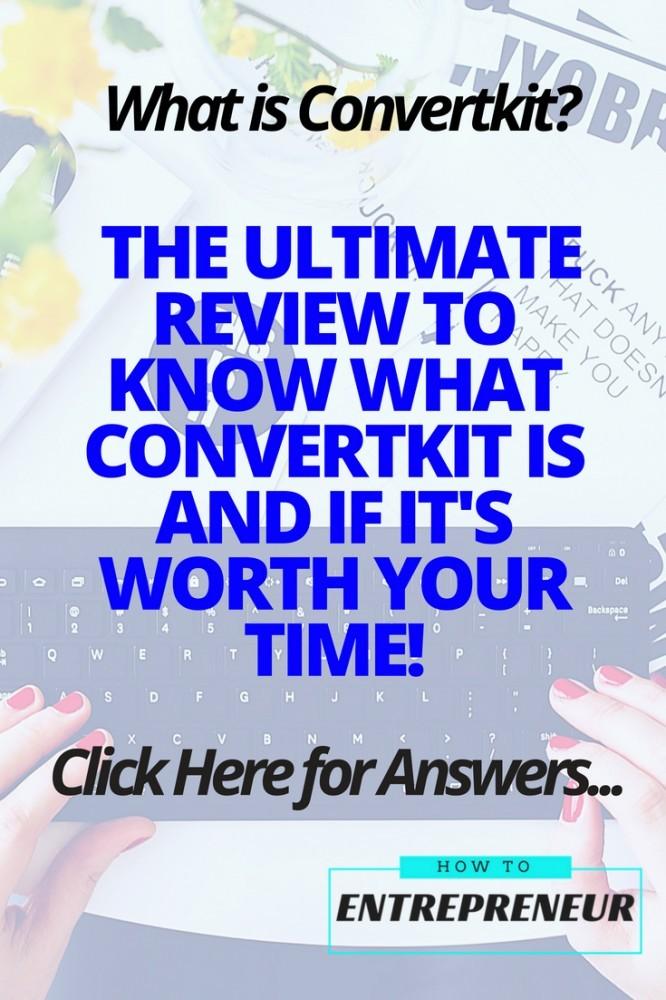 a convertkit review pinterest pin