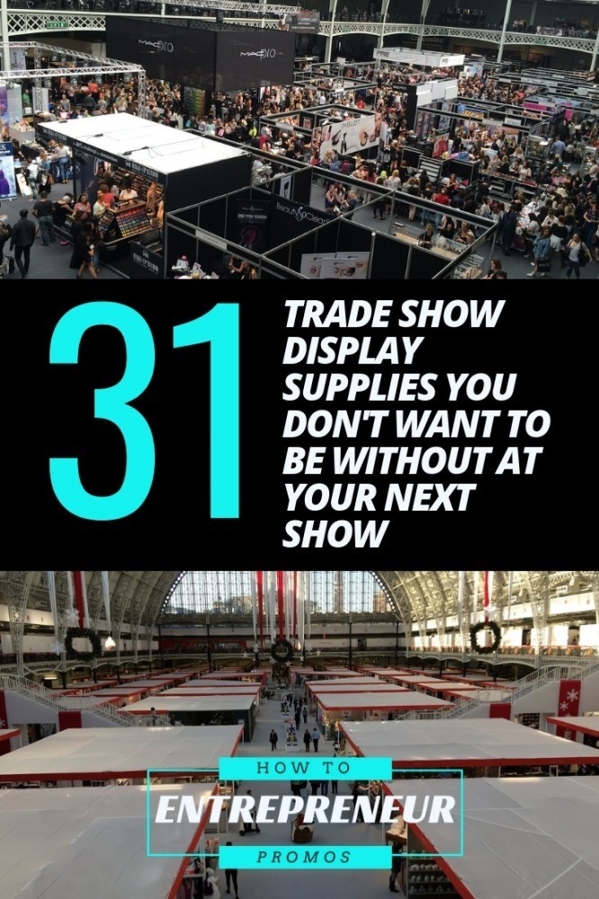 31 Trade Show Display Supplies You Don't Want To Be Without at Your Show
