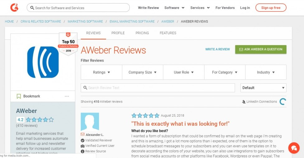 getresponse vs aweber review