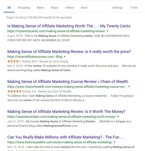 making sense of cents reviews