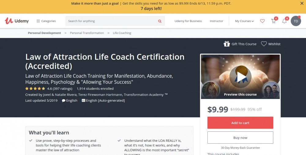 Best Law of Attraction Online Courses