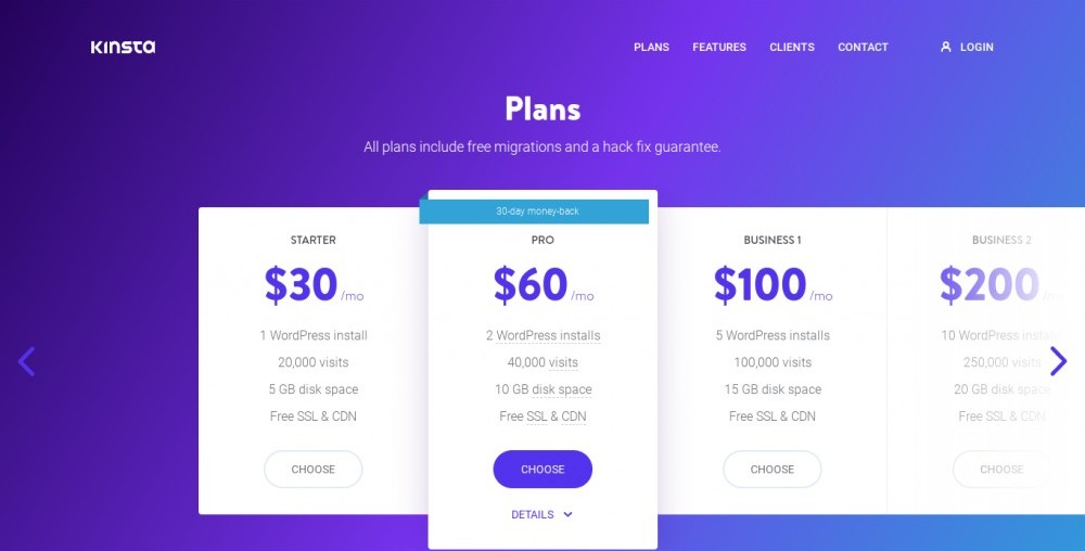 kinsta pricing plans