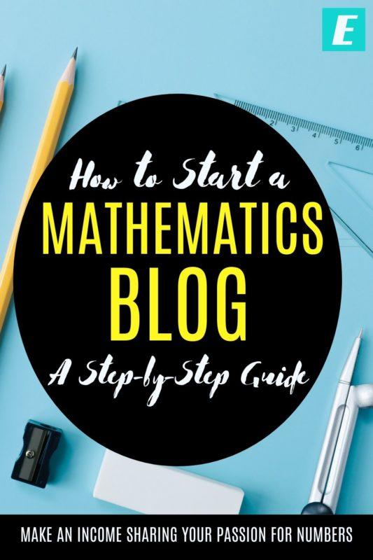 How to Start a Math Blog - Pinterest Pin