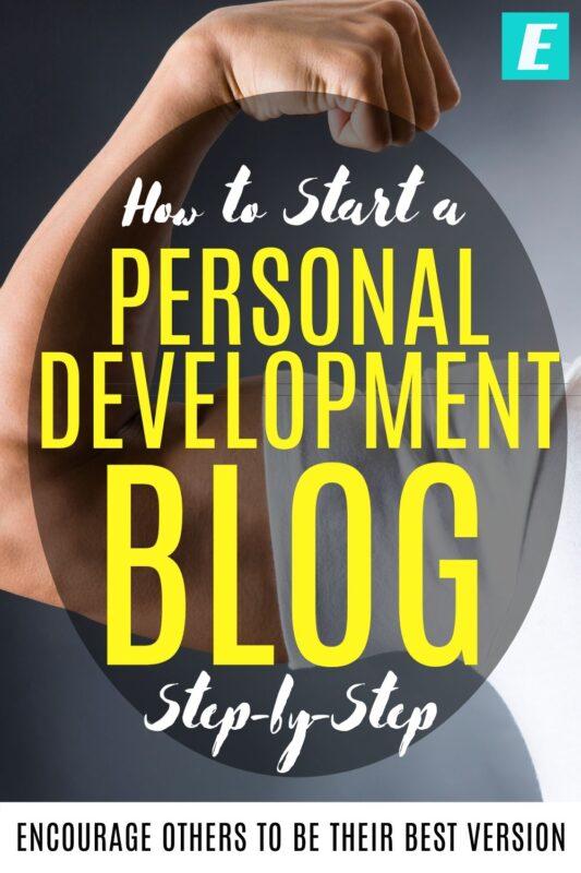 How to Start a Personal Development Blog - Pinterest Pin