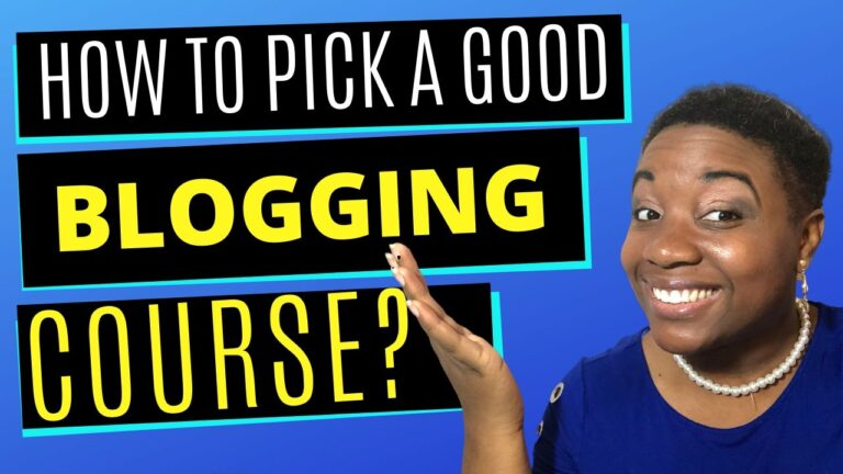 How to Pick a Good Blogging Course - Featured Thumbnail