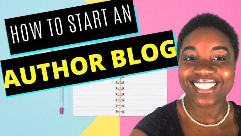 How to Start an Author Blog - A Step-by-Step Guide