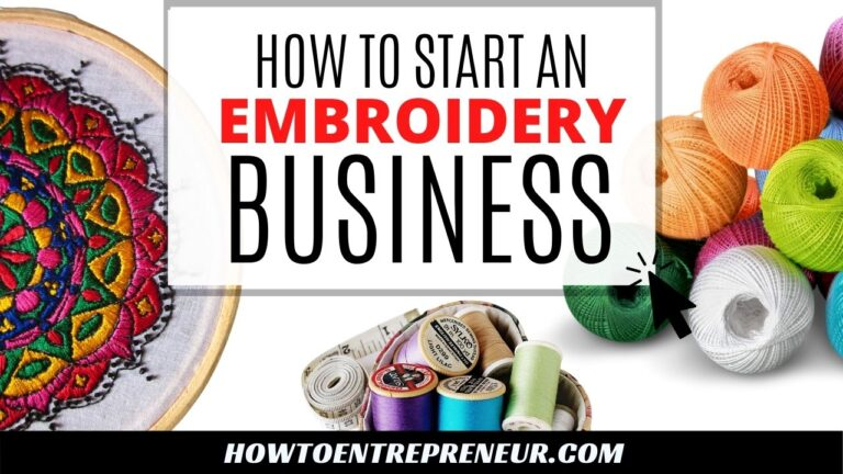 How to Start an Embroidery Business - Featured image