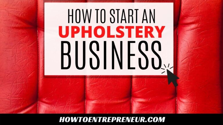 How to Start an Upholstery Business - Featured Image